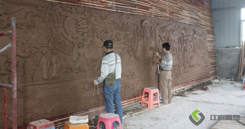 新余市水西镇彭氏宗祠-江西南昌锻铜浮雕厂家案例