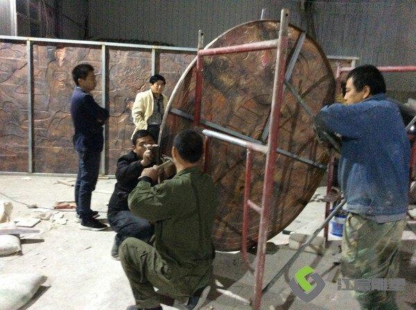 南昌浮雕厂家案例:新余市水西镇锻铜浮雕景观项目