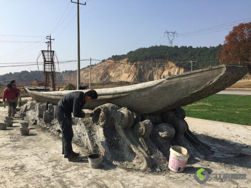 江西雕塑-余干县大塘乡景观提升水泥雕塑