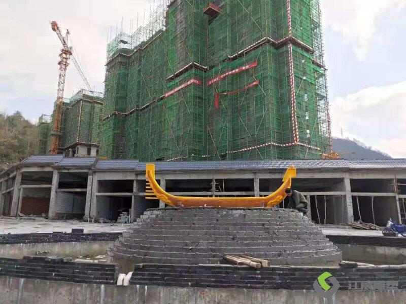 江西雕塑-九江修水景观船不锈钢雕塑案例产品