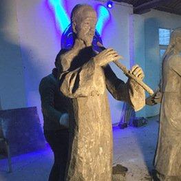 江西锻铜雕塑:余干县白马桥乡新农村景观提升雕塑