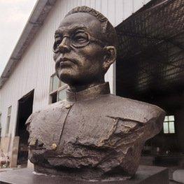 江西瑞金聋哑人学校玻璃钢名人像雕塑