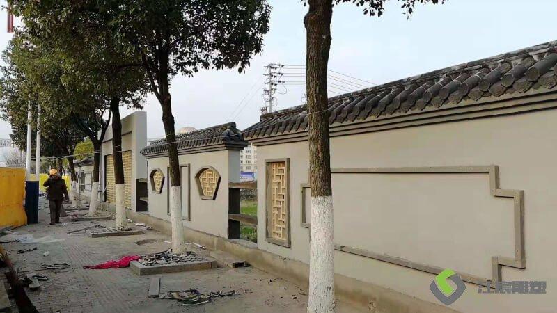 江西雕塑厂家:莲塘化工市场EPS线条 墙体壁画宣传语