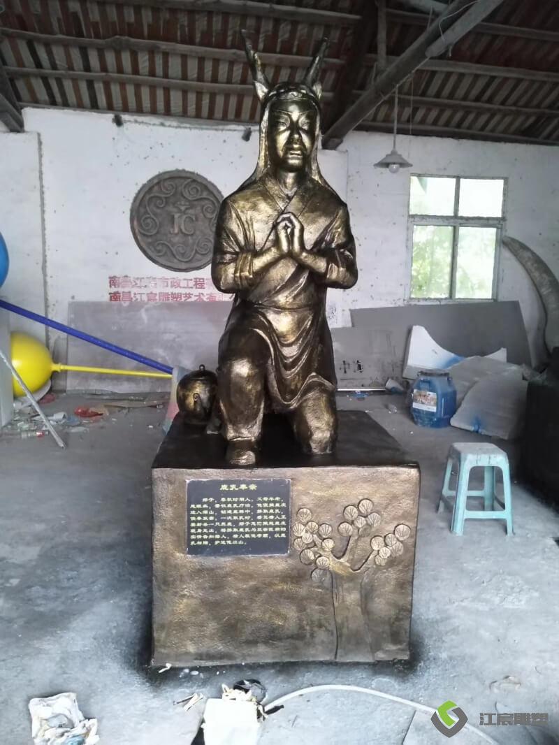 江西雕塑厂:彭泽县新农村二十四孝水泥人物雕像