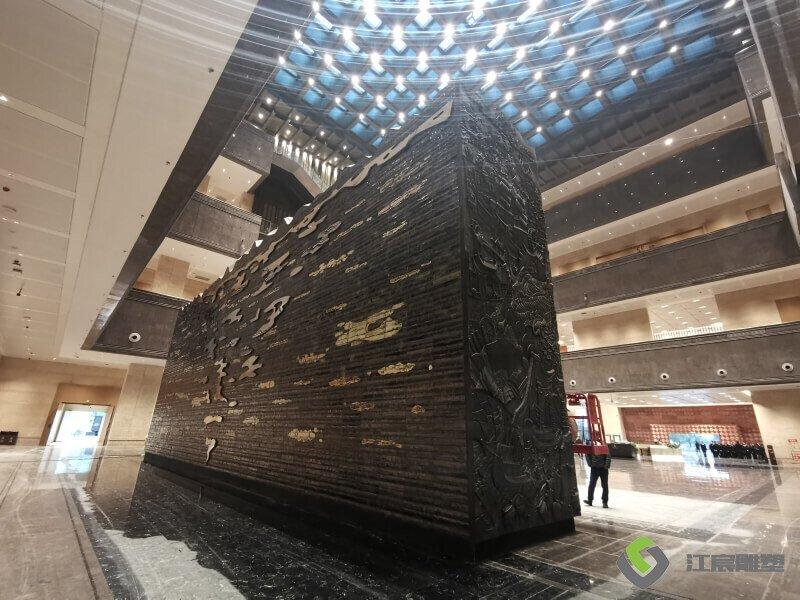 江西省博物馆新馆紫铜雕塑