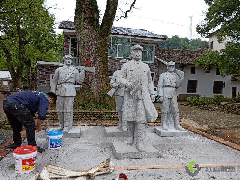 江西雕塑厂家:人物石雕-宜春温汤至明月山沿线景观提升工程项目