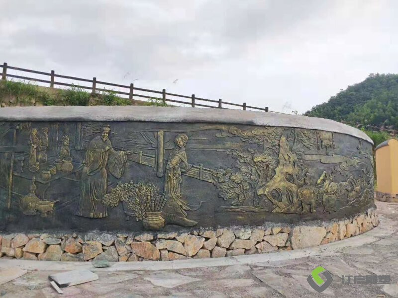 江西南昌水泥仿铜浮雕厂:宜春温汤至明月山沿线景观提升项目工程