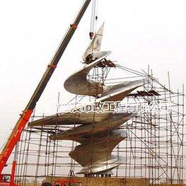 螺旋向上城市形象工程不锈钢雕塑建筑