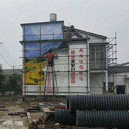 江西南昌做墙体彩绘厂家施工现场