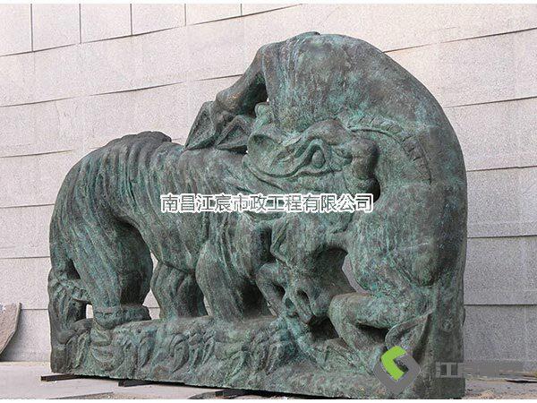 江西南昌厂家大型动物铸铜雕塑