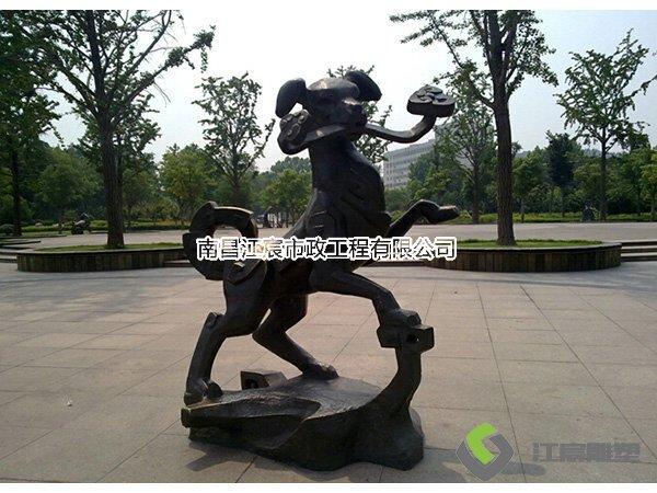 江西雕塑厂家:广场动物铸铜雕塑