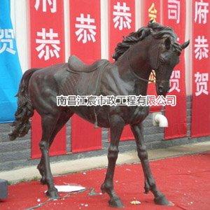 江西南昌马动物造型铸铜雕塑