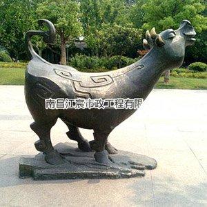 南昌雕塑厂家动物铸铜雕像 楼盘广场摆放景观