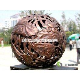 江西锻铜雕塑厂家:镂空球形雕塑