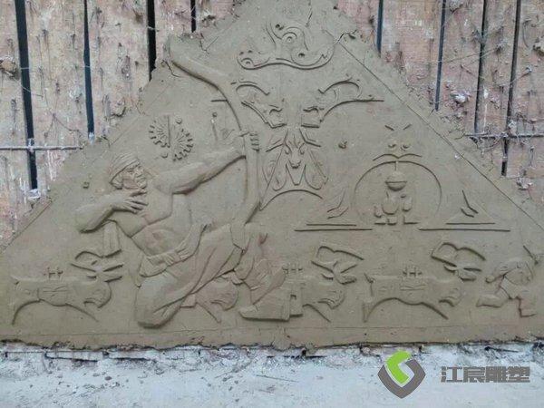 江西雕塑工厂:壁画类玻璃钢雕塑