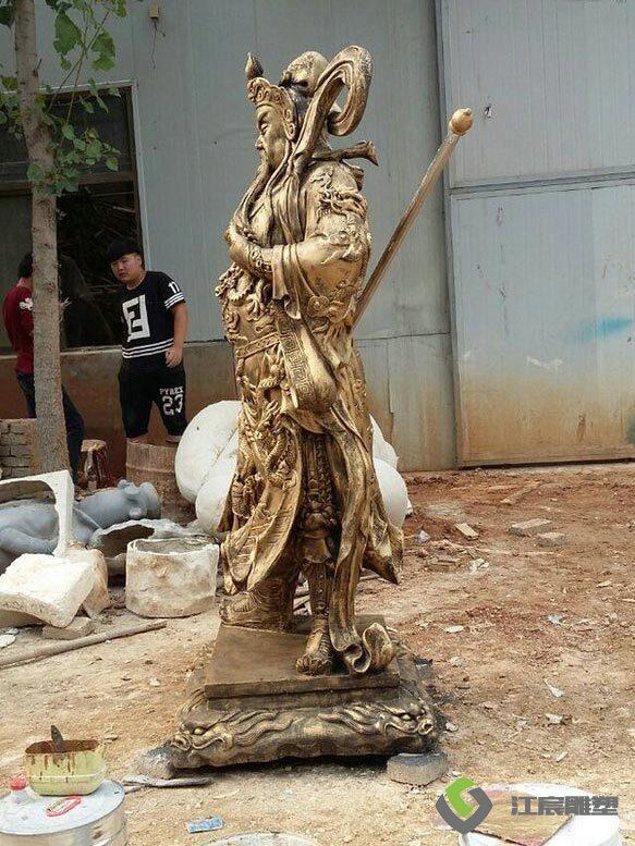 江西雕像工厂:三国关公玻璃钢仿古代人物雕塑