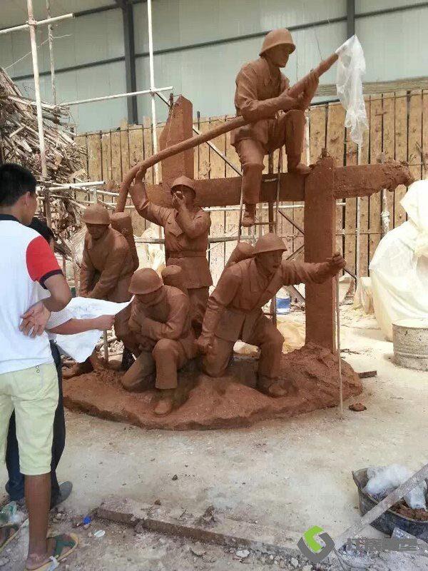 南昌雕塑工厂:红军人物类主题玻璃钢雕塑