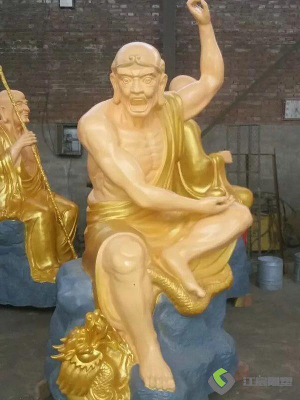 江西雕塑厂家:观音罗汉佛像水泥雕塑