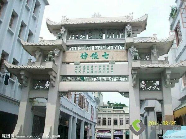 江西石材雕塑-村口景区牌坊门楼景观塑像