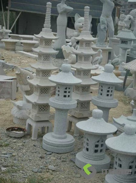 江西石材雕塑小区景区灯光造型小雕塑