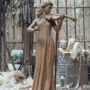 江西南昌塑像工厂:人物造型玻璃钢雕塑