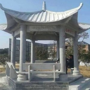 江西雕塑:中欧式复古休息石材雕塑亭子