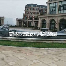 雕像厂:楼盘小区广场船造型水泥雕塑
