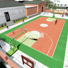 江西雕塑厂家:新农村学校设计改造景观图