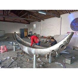 不锈钢船 南昌雕塑工厂