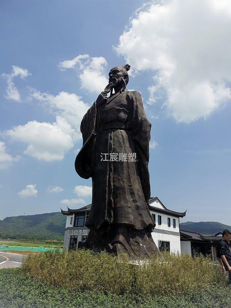 抚州灵谷峰铸铜人物《谢灵运》