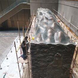 江西省博物馆(新馆)紫铜山形雕塑