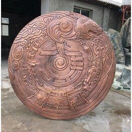 新余水西彭式锻铜浮雕雕塑