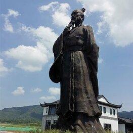 抚州灵谷峰铸铜人物《谢灵运》 雕塑