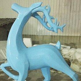 玻璃钢 鹿动物造型雕塑