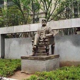 湖北黄石名人像玻璃钢雕塑 江西南昌历史人物雕像
