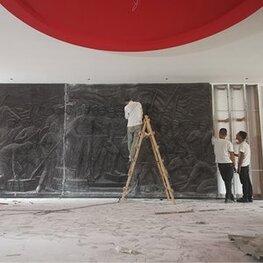 江西水利学院党建馆浮雕 江西南昌玻璃钢雕塑作品