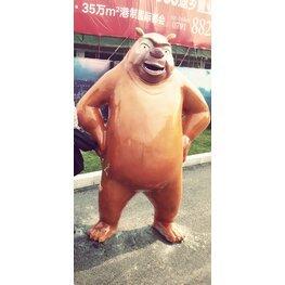 力高君御国际玻璃钢雕塑 熊大熊二动物造型雕像作品