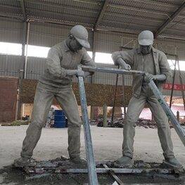 江西南昌雕塑厂家:安义县万埠镇新农村景观配套 人物造型水泥雕塑作品